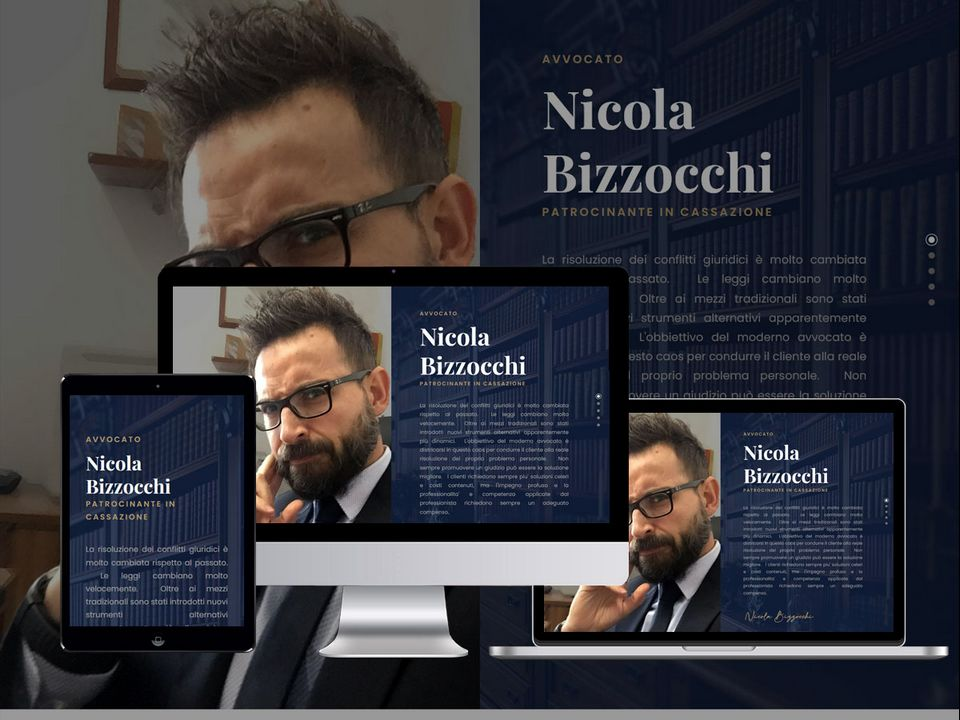 print screen from avvocatobizzocchi.com website