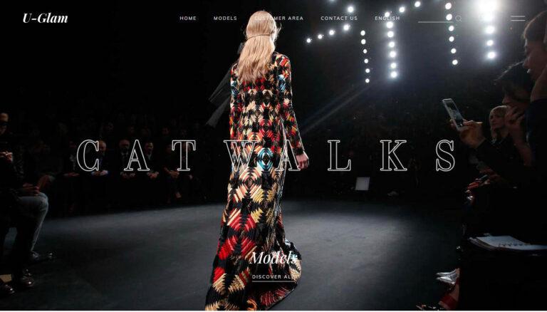model agency homepage